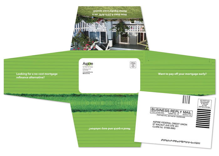 Aspire Credit Union >> Aspire Federal Credit Union Die Cut Mailer Image Works