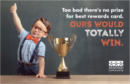 Too bad there's no prize for best rewards card. Ours would totally win.