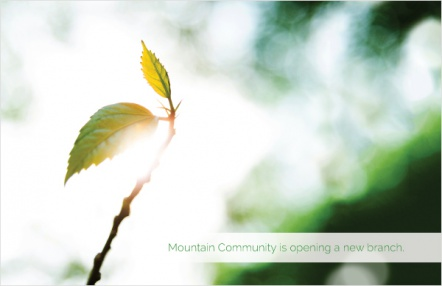 Mountain Community is opening a new branch