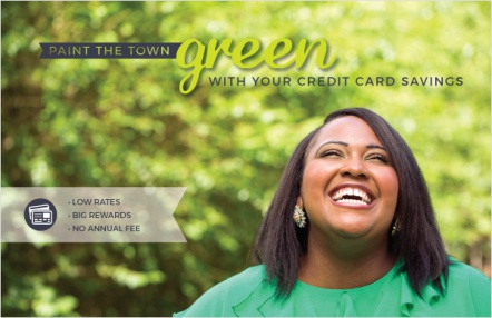 Paint the town green with your credit card savings