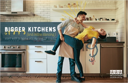 Bigger kitchens (and better dancing) start with a home equity line of credit