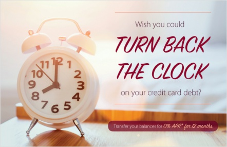 Wish you could turn back the clock on your credit card debt?