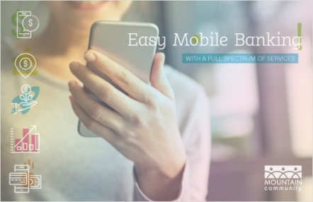 Easy mobile banking with a full spectrum of services.