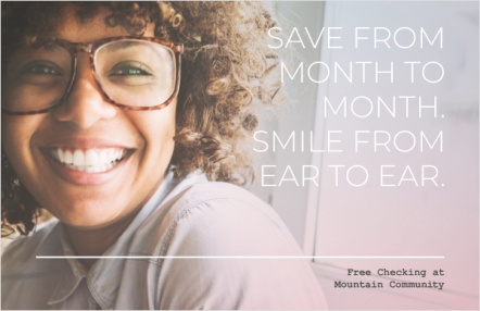 Save from month to month. Smile from ear to ear.
