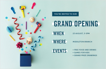 You're Invited to Our Grand Opening