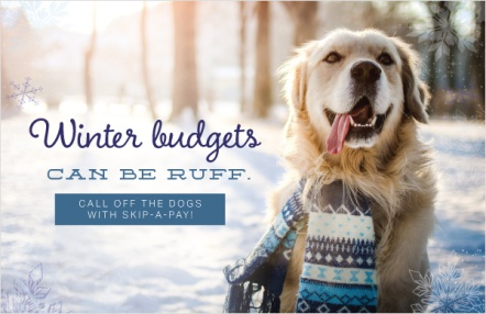 Winter budgets can be ruff.