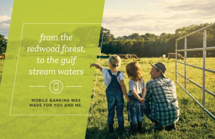 From the Redwood Forest, to the Gulf Stream Waters, Mobile Banking Was Made For You and Me.