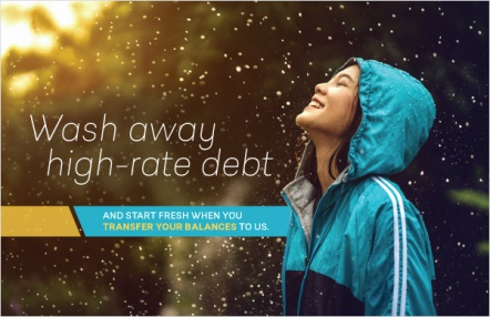 Wash away high-rate debt