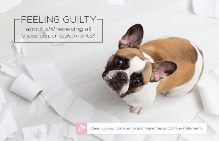 Feeling guilty about still receiving all those paper statements?