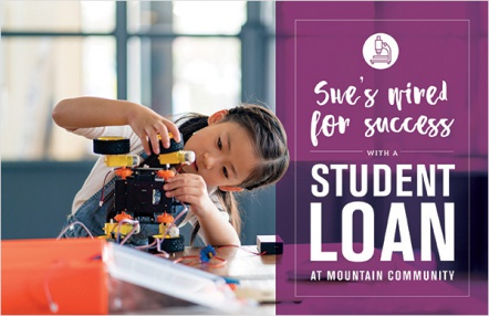 She's wired for success with a student loan at Mountain Community