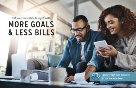 Fill your monthly budget with more goals & less bills