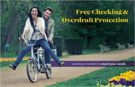 Free checking & overdraft protection
