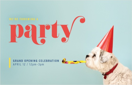 We're throwing a party