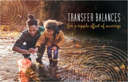 Transfer balances for a ripple effect of savings