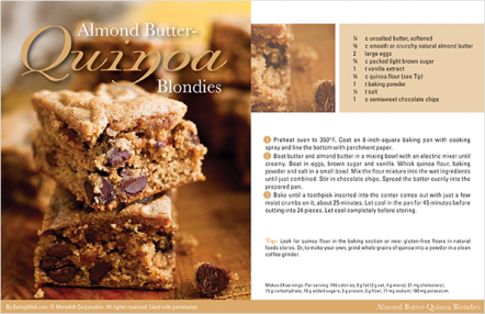 Almond Butter Quinoa Blondies