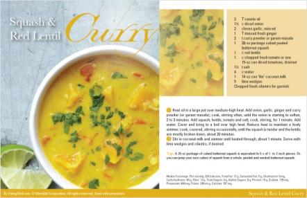 Squash & Red Lentil Curry