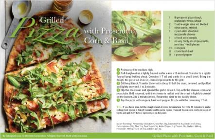 Grilled Pizza with Prosciutto, Corn & Basil