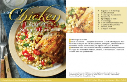 Grilled Chicken Thighs with Summer Corn Salad
