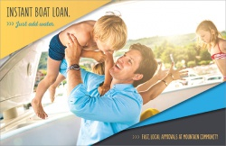 Instant Boat Loan. Just Add Water.