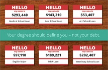 Your degree should define you – not your debt.