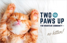 Two Paws Up For Mountain Community
