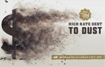 Turn High-Rate Debt to Dust