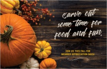 Carve out some time for food and fun.