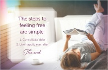 The steps to feeling free are simple