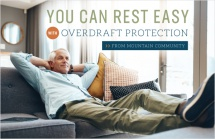 You can rest easy with overdraft protection