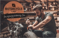 Motorcycle funds for more toy-tinkering fun