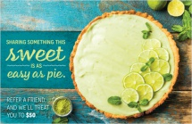 Sharing something this sweet is as easy as pie.