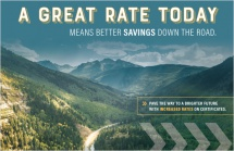 A great rate today means better savings down the road