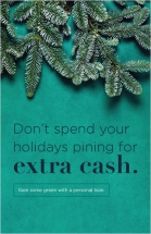 Don't spend your holidays pining for extra cash