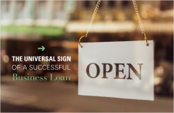 The universal sign of a successful business loan