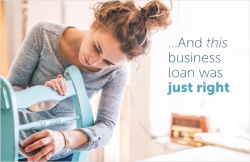 ...And this business loan was just right
