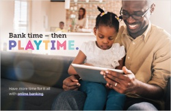 Bank time – then playtime.