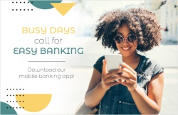 Busy days call for easy banking