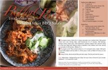 Pulled Pork Tenderloin with Vidalia Onion BBQ Sauce