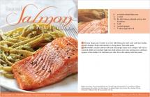 Seared Salmon with Pesto Fettuccine