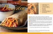 Freezer Bean & Cheese Burritos