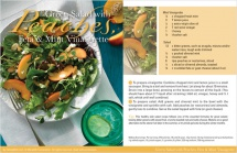 Green Salad with Peaches Feta & Mint Vinaigrette