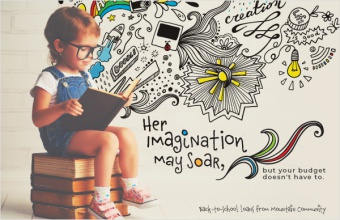 Her imagination may soar, but your budget doesn't have to.
